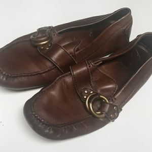 Frye Mens leather loafers size 9.5